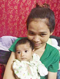 Sophal and baby
