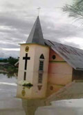 Church in flood